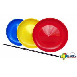 Higgins Brothers Juggling 9 inch Spinning Plate, Red - Higgins Bros