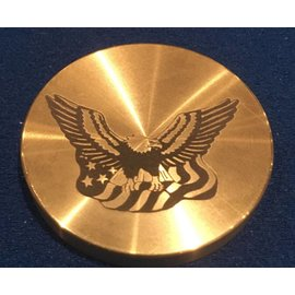 Ronjo Eagle/Flag Okito Box Lid, Half Dollar - Laser Etched (no spin) by Ronjo - Coin