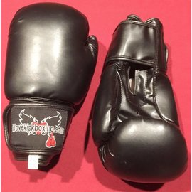 King Kick Boxing Gloves, 12 oz - Black
