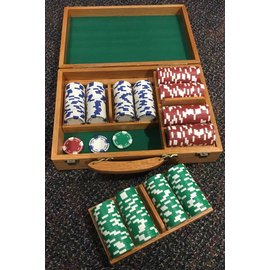 China Chip Set, Oak 300 Pc. 11.5 Gm Holdem