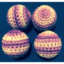 Ronjo Crocheted Balls Acrylic 4 pk, 3/4 inch - Multi Purple (M8)