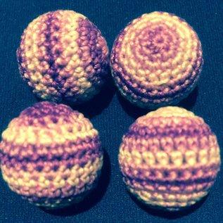 Ronjo Crocheted Balls Acrylic 4 pk, 3/4 inch - Multi Purple (M8)