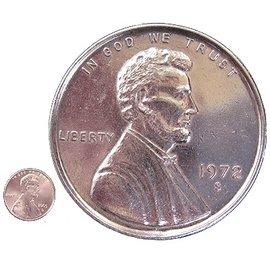India Jumbo Coin, Penny - 3 inch  (M10)