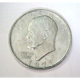 India Jumbo Coin, Dollar - 3 inch