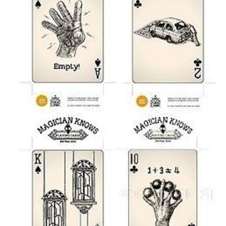 808 Magic Store Magician Knows (Black & White and Color) Set Playing Cards Deck by 808 Magic