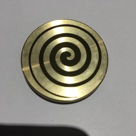 Ronjo Swirl Okito Box Spinner Lid, Half Dollar -  Laser Etched by Ronjo - Coin