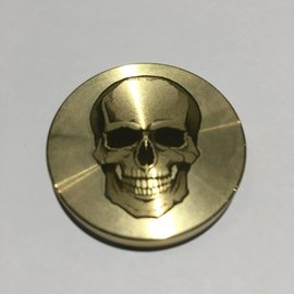 Ronjo Skull Okito Box Spinner Lid, Half Dollar -  Laser Etched by Ronjo - Coin