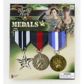 Forum Novelties Military Medals - 3 Set