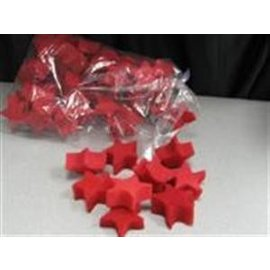 Magic By Gosh Sponge Stars, Red - 4 Pack