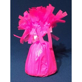 Forum Novelties Balloon Weight, Neon Pink- Fringed Foil 6.4 oz
