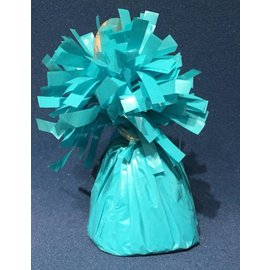 Forum Novelties Balloon Weight, Neon Turquoise- Fringed Foil 6.4 oz