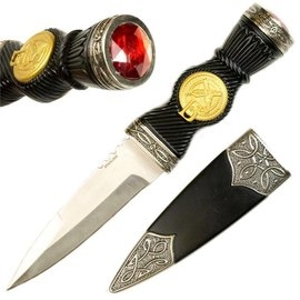 "Craftwork Knives 9"" Sgian Dubh Knife Traditional Scottish Blade Dagger (M1)"