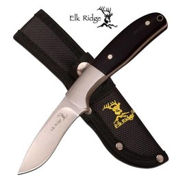 Elk Ridge Fixed Blade Hunting Skinner Knife Elk Ridge Black Wood with Sheath (M1)