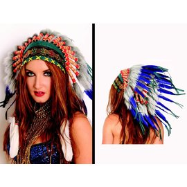 Western Fashion Inc Indian Headdress, Deluxe - Short by Western Fashion