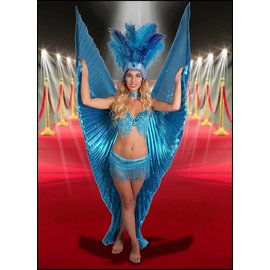 Western Fashion Inc Samba Bra Sequin/Beaded/Fringe, Turquoise - M/L