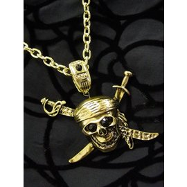 Flashback And Freedom Inc Pirate Skull And Swords Necklace