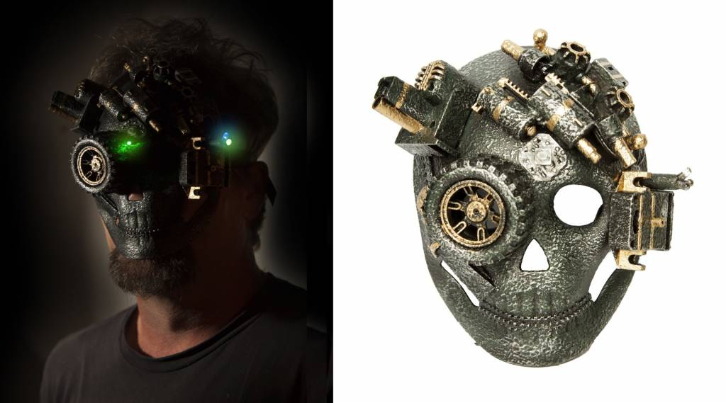 Steampunk Light Up Mask Ronjo Magic Costumes And Party Shop