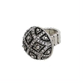 Crystal Avenue Antique Round Stretch Ring