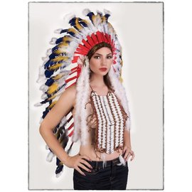 Western Fashion Inc Indian Headdress, Deluxe - Long by Western Fashion