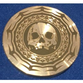 Ronjo Tribal Skull Okito Box Spinner Lid, Half Dollar -  Laser Etched by Ronjo - Coin
