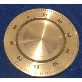 Ronjo Okito Box Lid Combination Dial, Silver Dollar