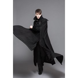 Devil Fashion Gothic Trench Coat w/Side Cape, Adult - XL