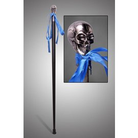 China Silver Skull Walking Cane