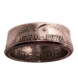 Murphy's Magic Genuine Half-Dollar Coin Ring, Size 14.0  by Diamond Jim Tyler