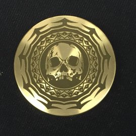 Ronjo Tribal Skull Okito Box Spinner Lid, Silver Dollar -  Laser Etched by Ronjo - Coin