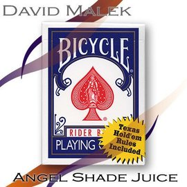David Malek Marked Deck (Blue Bicycle Style- Angel Shade Juice) by David Malek - Trick