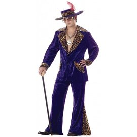 California Costumes Pimp, Purple with Leopard - XL
