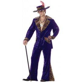 California Costumes Pimp, Purple with Leopard - XL