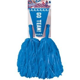 Forum Novelties Cheer Leader Pom Pom/Megaphone Blue