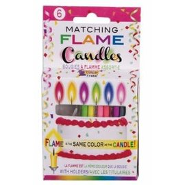 "Forum Novelties Matching Flame Candles - 6 pk, 4"" Tapered"