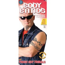 Tinsley Transfers Tough Guy Tribals Body Bands Temporary Tattoos