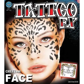 Tinsley Transfers Cheetah Face Tattoo