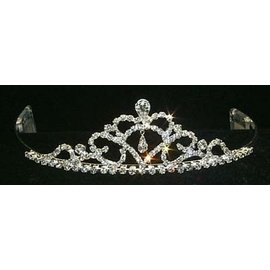 Rhinestone Jewelry Corporatrion Fine Pear Drop Tiara 1.5 inch tall