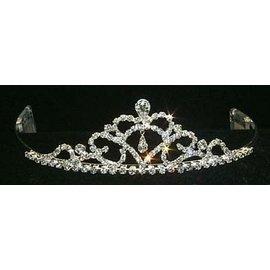 Rhinestone Jewelry Corporatrion Fine Pear Drop Tiara 1.5 inch tall