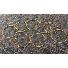 """Sasco Magic Vintage 5"""" Gold Plated Linking Rings by S.S. Adams and Sasco Magic"""