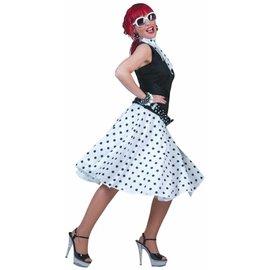 Funny Fashion Rock 'N Roll Skirt - White