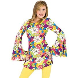 Funny Fashion Flower Power Hippie - Large