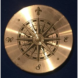 Ronjo Compass 1 Okito Box Spinner Lid, Silver Dollar -  Laser Etched by Ronjo - Coin