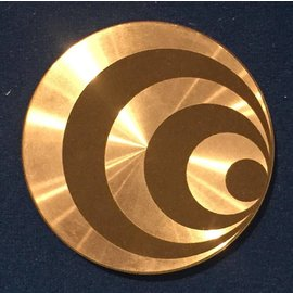 Ronjo Okito Box Lid Optical 3, Silver Dollar