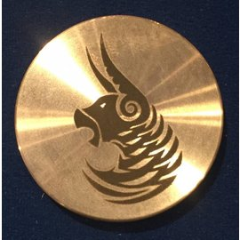 Ronjo Taurus Okito Box Spinner Lid, Half Dollar -  Laser Etched by Ronjo - Coin