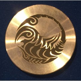 Ronjo Scorpio Okito Box Spinner Lid, Half Dollar -  Laser Etched by Ronjo - Coin