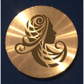Ronjo Virgo Okito Box Spinner Lid, Half Dollar -  Laser Etched by Ronjo - Coin