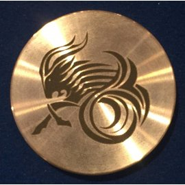 Ronjo Capricorn Okito Box Spinner Lid, Half Dollar -  Laser Etched by Ronjo - Coin