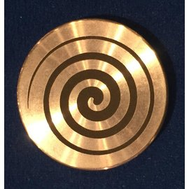 Ronjo Swirl Okito Box Spinner Lid, Quarter Size -  Laser Etched by Ronjo - Coin