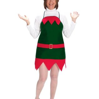 Halco Christmas Elf Apron and Hat - Adult One Size