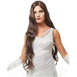 Costume Culture by Franco American Atlantis Wig - Dark Brown